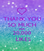 THANK YOU SO MUCH FOR 20,000  LIKES - Personalised Poster A1 size