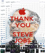 THANK  YOU  STEVE JOBS - Personalised Poster A1 size
