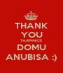 THANK YOU TAJEMNICE DOMU ANUBISA :) - Personalised Poster A1 size