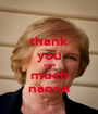 thank you very much nanna - Personalised Poster A1 size