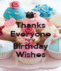 Thanks Everyone For ur Birthday Wishes - Personalised Poster A1 size