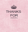 THANKS  FOR READING   - Personalised Poster A1 size