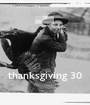 thanksgiving 30 - Personalised Poster A1 size