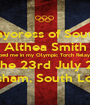 The Mayoress of Southwark Althea Smith helped me in my Olympic Torch Relay leg on the 23rd July 2012 Lewisham, South London - Personalised Poster A1 size