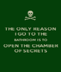 THE ONLY REASON  I GO TO THE BATHROOM IS TO OPEN THE CHAMBER OF SECRETS - Personalised Poster A1 size