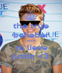 the true belieber won't to lieve justin <3 - Personalised Poster A1 size