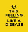 THIS  FEELING SPREADING LIKE A DISEASE - Personalised Poster A1 size