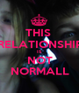 THIS  RELATIONSHIP IS NOT NORMALL - Personalised Poster A1 size