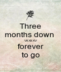 Three months down  Vll·Xll·XV forever to go - Personalised Poster A1 size