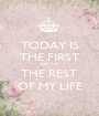 TODAY IS THE FIRST DAY OF THE REST OF MY LIFE - Personalised Poster A1 size