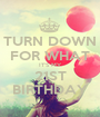 TURN DOWN FOR WHAT IT'S MY 21ST BIRTHDAY - Personalised Poster A1 size