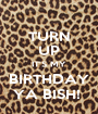 TURN UP IT'S MY BIRTHDAY YA BISH!  - Personalised Poster A1 size