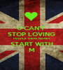 U CAN'T  STOP LOVING PEOPLE THERE NAMES START WITH M - Personalised Poster A1 size