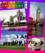 U.K. Te asteapta! Job si Cazare 1 AN 400 Lire - Personalised Poster A1 size