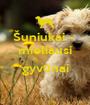 Šuniukai -  mieliausi  gyvūnai  - Personalised Poster A1 size