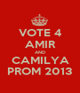 VOTE 4 AMIR AND CAMILYA PROM 2013 - Personalised Poster A1 size