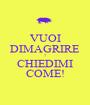 VUOI DIMAGRIRE ? CHIEDIMI COME! - Personalised Poster A1 size