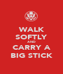 WALK SOFTLY AND CARRY A BIG STICK - Personalised Poster A1 size