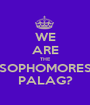 WE ARE THE SOPHOMORES PALAG? - Personalised Poster A1 size