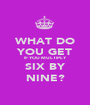 WHAT DO YOU GET IF YOU MULTIPLY SIX BY NINE? - Personalised Poster A1 size