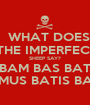 WHAT DOES  THE IMPERFECT SHEEP SAY? BAM BAS BAT BAMUS BATIS BANT - Personalised Poster A1 size