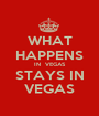 WHAT HAPPENS IN  VEGAS STAYS IN VEGAS - Personalised Poster A1 size