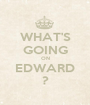 WHAT'S GOING ON EDWARD ? - Personalised Poster A1 size