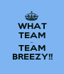 WHAT TEAM ... TEAM BREEZY!! - Personalised Poster A1 size
