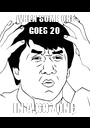 WHEN SOME ONE GOES 20  IN A 60 ZONE  - Personalised Poster A1 size