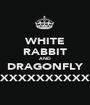 WHITE RABBIT AND DRAGONFLY XXXXXXXXXXXXXX - Personalised Poster A1 size