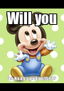 Will you be Noah's godmother? - Personalised Poster A1 size
