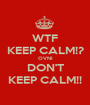 WTF KEEP CALM!? OVNI DON'T KEEP CALM!! - Personalised Poster A1 size