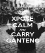 XPOSE CALM AND CARRY GANTENG - Personalised Poster A1 size