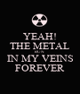 YEAH! THE METAL RUN  IN MY VEINS FOREVER - Personalised Poster A1 size