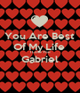 You Are Best  Of My Life  I Love You Gabriel  - Personalised Poster A1 size
