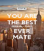 YOU ARE THE BEST PERSON I HAVE EVER MATE - Personalised Poster A1 size