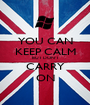 YOU CAN KEEP CALM BUT DON'T CARRY ON - Personalised Poster A1 size