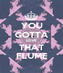 YOU GOTTA LOVE THAT FLUME - Personalised Poster A1 size