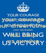 your courage your cheerfulness your resolution will help us survive - Personalised Poster A1 size