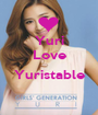 Yuri Love  Yuristable  - Personalised Poster A1 size