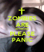 ZOMBIES ARE ATTAKING PLEASE PANIC - Personalised Poster A1 size