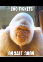 ZOO TICKETS        ON SALE  SOON    - Personalised Poster A1 size
