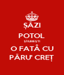 ȘĂZI POTOL ȘÎ IUBIEȘTI O FATÂ CU PĂRU' CREȚ - Personalised Poster A4 size