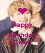 Happy  Birthday Chen - Personalised Poster A4 size