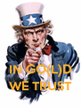 IN GO(L)D WE TRUST - Personalised Poster A4 size