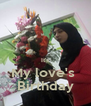 It's My love's  Birthday - Personalised Poster A4 size