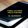 PING DOWN    MEH PHONE    IS ALRIGHT         - Personalised Poster A4 size