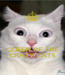 QUEEN OF THE CRAZY CATS - Personalised Poster A4 size
