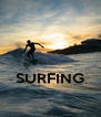 SURFING  - Personalised Poster A4 size