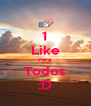 1 Like Para Todos :D - Personalised Poster A4 size